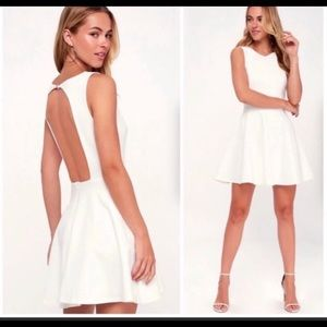 Lulus open back skater dress